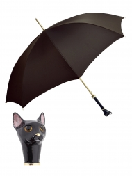 Pasotti Umbrella UAK49 Cat Handle Moro Oxford