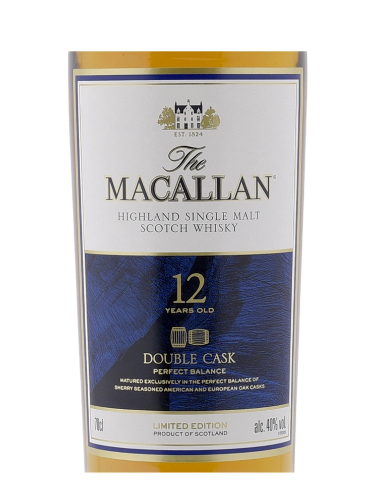 Macallan  12 Year Old Double Cask Limited Edition 2017 Release w/glasses 700ml