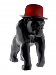 Sculpture Resin Gorilla With Red Hat