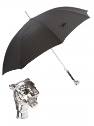 Pasotti Umbrella UAW35 Tiger Handle Black Oxford
