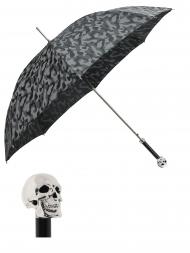 Pasotti Umbrella UAW33 Skull Handle Grey Camouflage Print