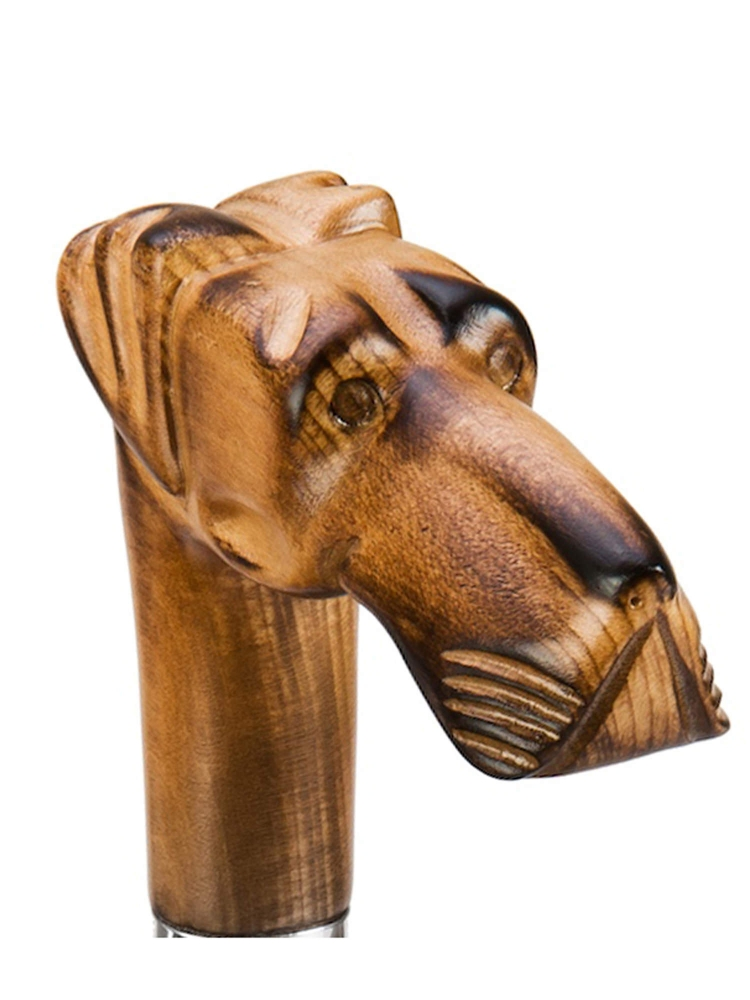 Pasotti Umbrella UAN52 Great Dane Wood Handle Black Oxford