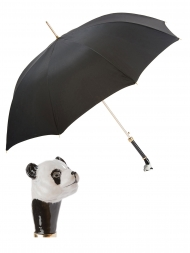 Pasotti Umbrella UAK60 Panda Handle Black Oxford