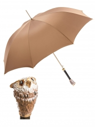 Pasotti Umbrella UAK51 Owl Handle Nude Oxford