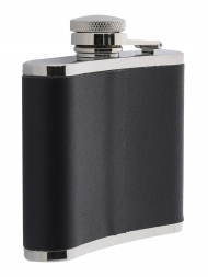Peterson Hip Flask FLA149 Black Leather 4oz