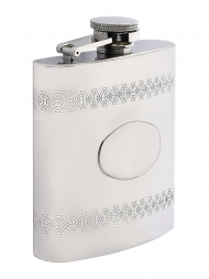 Peterson Hip Flask FLA153 Celtic Chrome 6oz