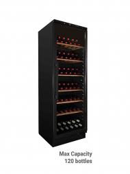 Vintec Classic V160SG Black Framed Glass Door 100/120bots