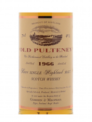 Old Pulteney 1966 Rare Single Highland Malt Whisky Gordon & Macphail (Bottled 2005) w/box 700ml