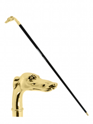 Pasotti Cane Greyhound Head Gold W39