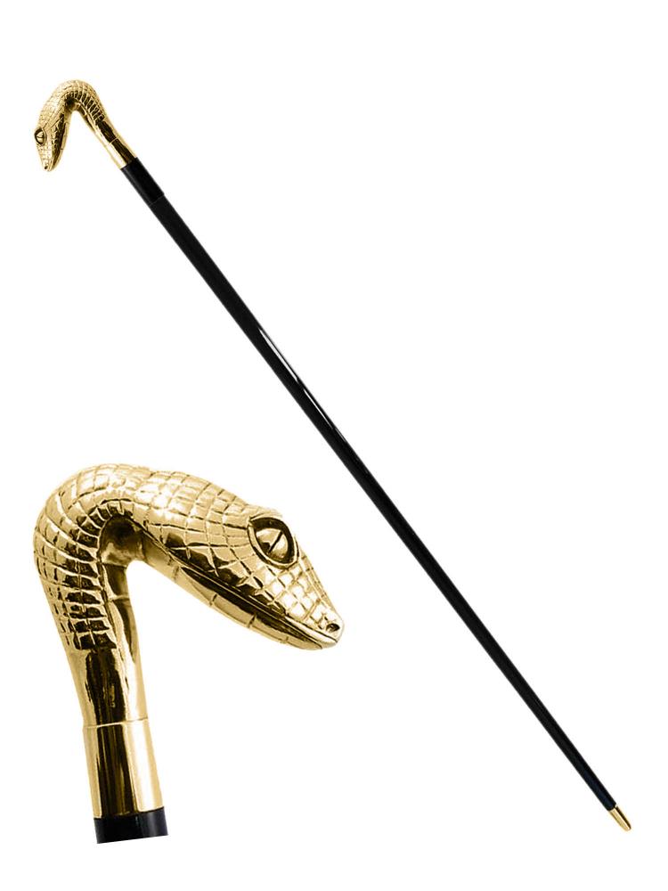 Pasotti Cane Snake Head Gold W31