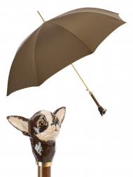 Pasotti Umbrella UAK70MO Chihuahua Handle Moro Houndstooth