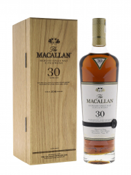 Macallan  30 Year Old Sherry Oak Annual Release 2018 Single Malt w/Wooden Box 700ml