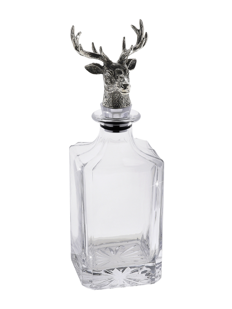 Regent Whisky Decanter Stag Head Stopper