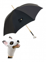Pasotti Umbrella UAK62 Bull Terrier Handle Black Oxford
