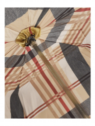 Pasotti Umbrella UA1338 Dachshund Acetate Handle Tartan Black