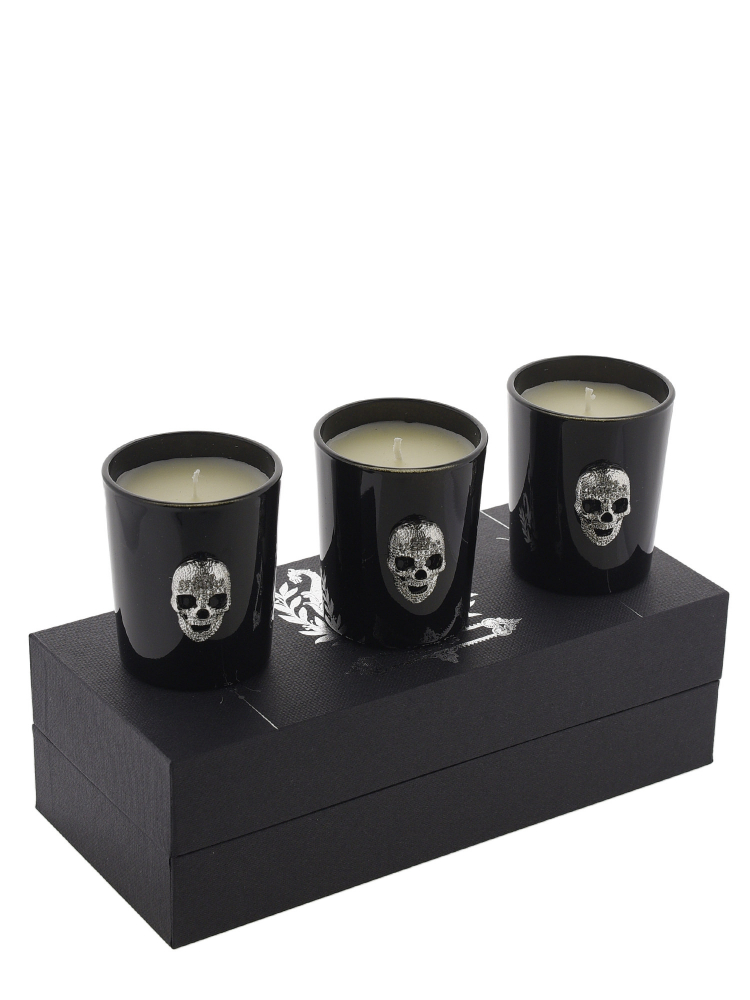 Modern Alchemy Candle Set 1027H-MA Memento Mori Crystal Skull Votives Gift Set of 3