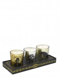Modern Alchemy Candle Set 9137 Halloween Man Skull Bird Votives Gift Set of 3