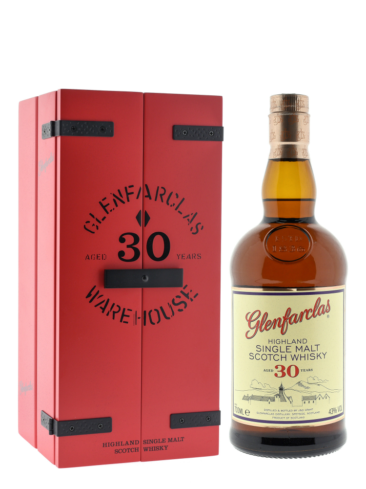 Glenfarclas 30 Year Old Single Malt Scotch Whisky w/wooden box 700ml