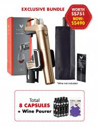 Coravin Model Two Elite Champagne Gold w/8 Capsules