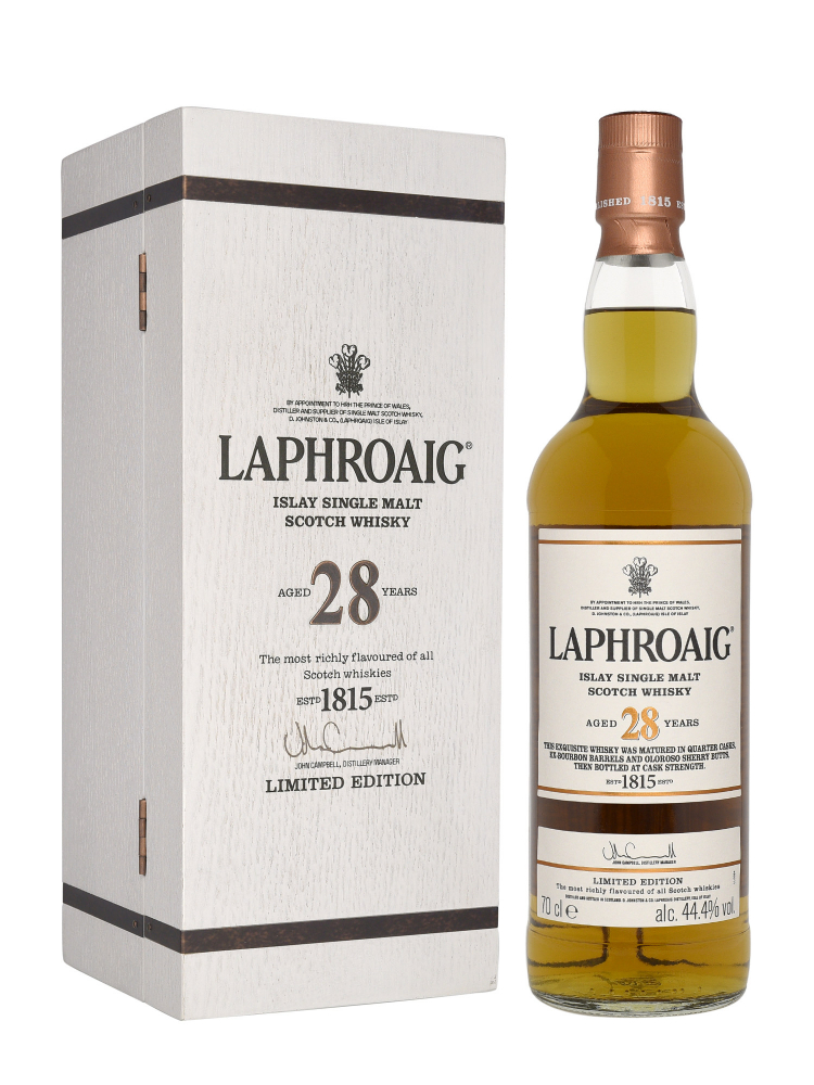 Laphroaig 28 Year Old Single Malt Scotch Whisky 700ml w/box