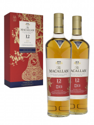 Macallan  12 Year Old Double Cask Limited Edition 2019 Release Twin Bottles Gift Pack 700ml