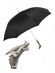 Pasotti Umbrella UAK73V Dragon Brass Handle Black