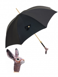 Pasotti Umbrella UAK67 Rabbit Lux Handle Black