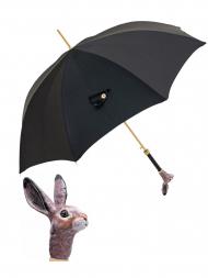 Pasotti Umbrella UAK67 Rabbit Lux Handle Black