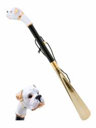 Pasotti Shoehorn White Boxer Gold K22