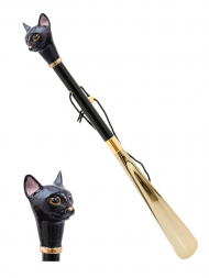 Pasotti Shoehorn Black Cat Gold K49