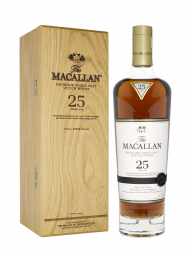 Macallan  25 Year Old Sherry Oak Annual Release 2019 Single Malt w/Wooden Box 700ml