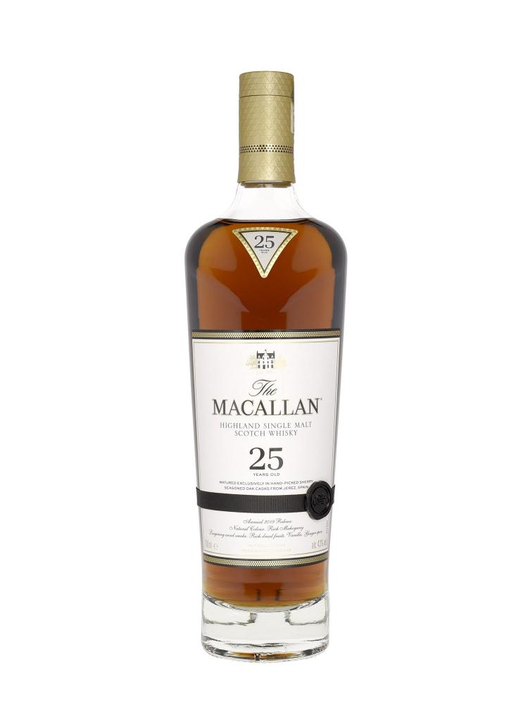 Macallan  25 Year Old Sherry Oak Annual Release 2019 Single Malt w/Wooden Box 700ml