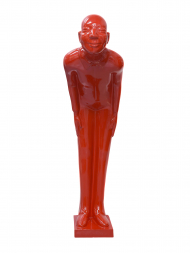 Sculpture Resin Welcome Man Red Giant