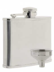 Peterson Hip Flask FLA132 Polish Chrome 4oz
