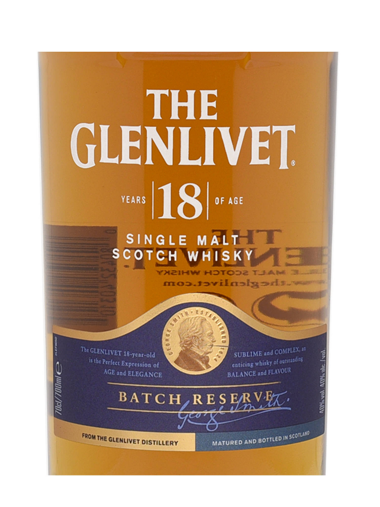 Glenlivet  18 Year Old Batch Reserve Single Malt Scotch Whisky 700ml