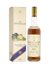 Macallan 1973 18 Year Old Sherry Oak (Bottled 1991) w/box (Low level)