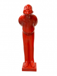 Sculpture Resin Welcome Man Red Big