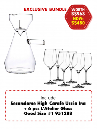 Secondome High Carafe Uccia Ina Promotion Bundle
