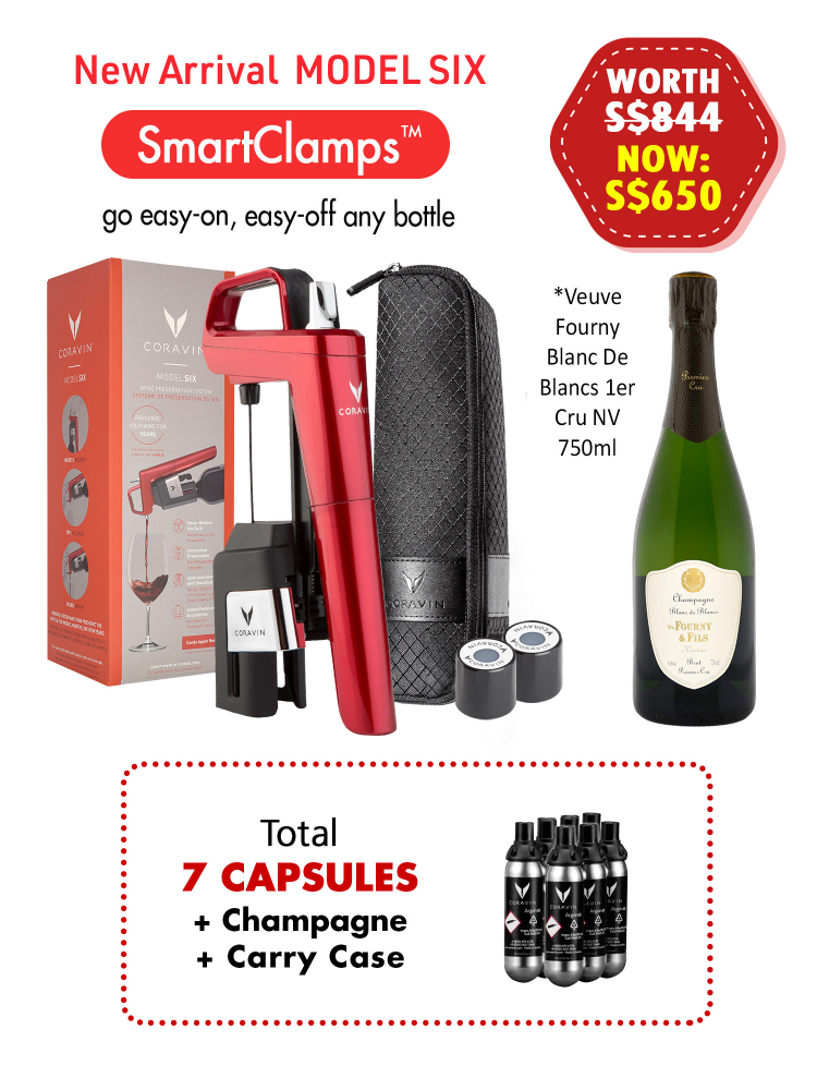 Coravin Model Six Candy Apple Red w/7 Capsules