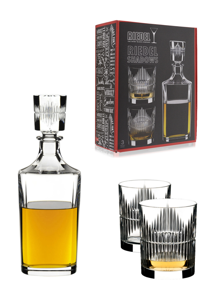 Riedel Whisky Tumbler Shadows + Decanter (Set of 3) 5515/02 S5