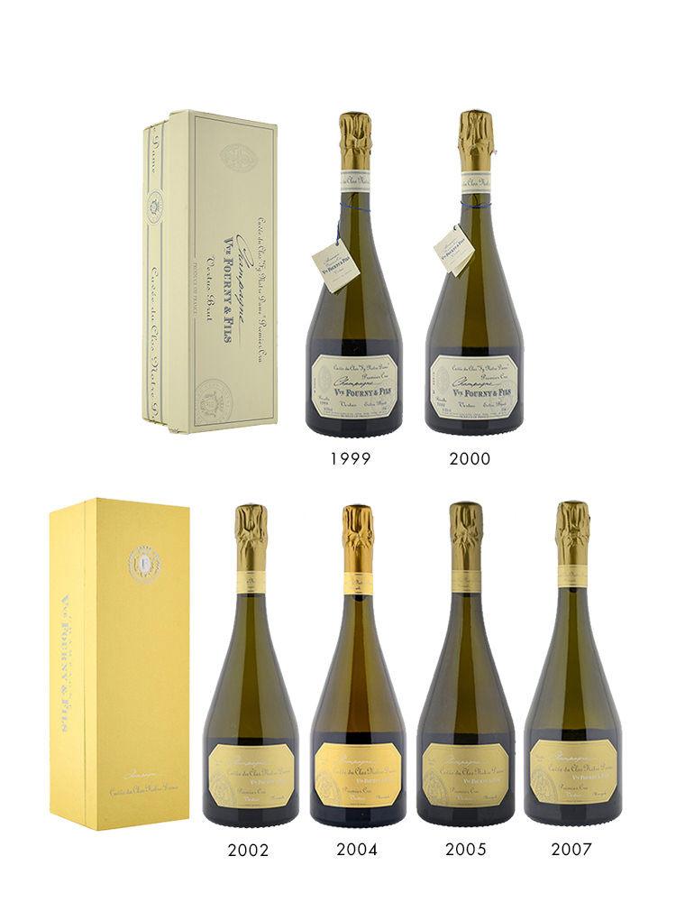 Veuve Fourny Clos Notre-Dame 1er Cru Vertical Collection 1999-2007