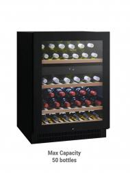 Vintec Noir VWD 050SBA-X 40bots Brown Tint Colour Glass Door, Dual Temp