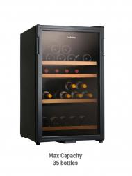 Vintec Classic VWS 035SCA-X 30bots Brown Tint Glass Door, Single Temp