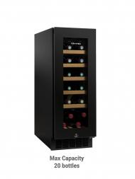 Vintec Noir VWS 020SBA-X 20bots Borderless Black Glass Door