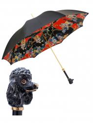 Pasotti Umbrella WMK78 Poodle Black Handle Flower