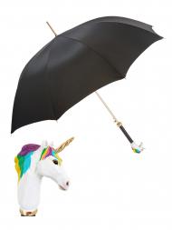 Pasotti Umbrella WAK83 Unicorn Handle Black
