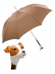 葩莎帝雨伞 MAK81 杰克罗素犬头伞柄裸色伞面