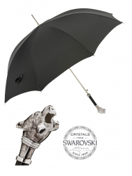 Pasotti Umbrella MAK1V Panther Vintage Handle Black