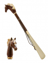 Pasotti Shoehorn Horse Brown K45MO Gold