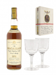 Macallan 1974 18 Year Old Sherry Oak (bottled 1992) Jacobite Set with Glasses 700ml